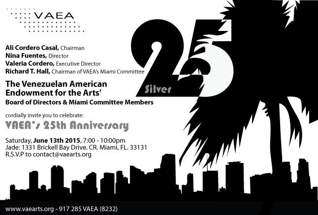 The Venezuelan American Endowment for the Arts (VAEA) turns 25