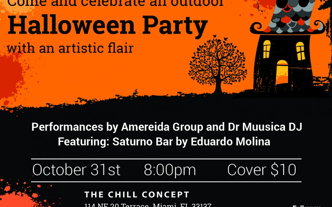 Celebrate an outdoor Halloween Party with an artistic flair